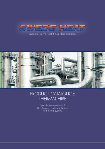 ProducT caTalougE THErmal HirE - Swedeheat