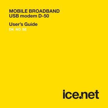 MOBILE BROADBAND USB modem D-50 User's Guide