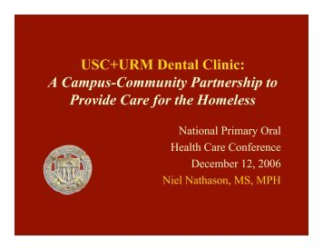 USC+URM Dental Clinic - National Network for Oral Health Access