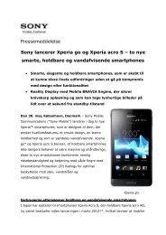 to nye smarte, holdbare og vandafvisende smartphones - Cision