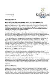 Hotel Koldingfjord skaber det totalt fleksible møderum - Louisehøj