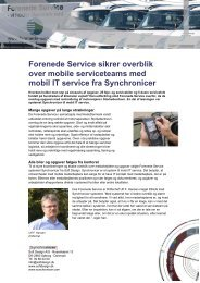 Forenede Service sikrer overblik over mobile ... - Soft Design A/S