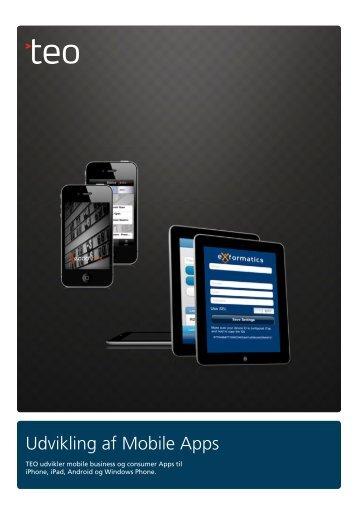 TEO – udvikling af Mobile Apps