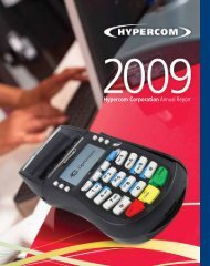 Hypercom Corporation Annual Report - CiteSeer