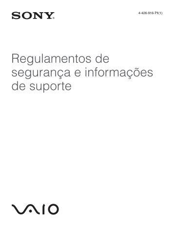 Sony SVE1511B1R - SVE1511B1R Documents de garantie Portugais