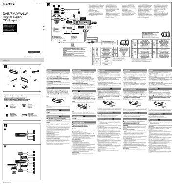 Sony CDX-DAB700U - CDX-DAB700U Guide d'installation