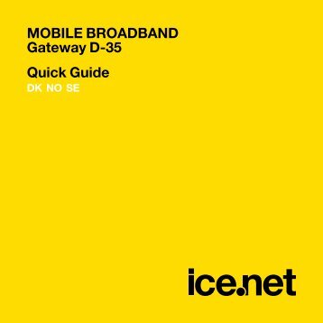 MOBILE BROADBAND Gateway D-35 Quick Guide - Kundeservice ...
