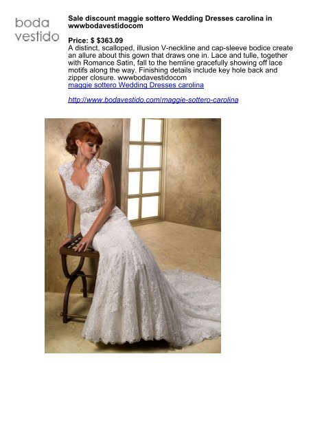 Sale Discount Maggie Sottero Wedding Dresses Carolina In