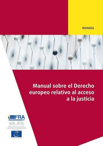 Manual sobre el Derecho europeo relativo al acceso a la justicia