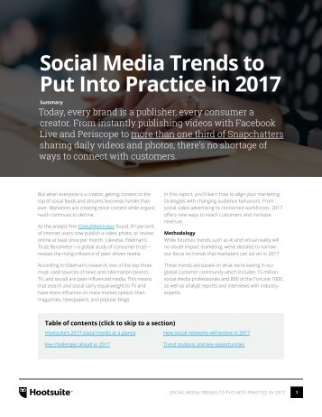 Social Media Trends to Put Into Practice in 2017