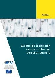 Manual de legislación europea sobre los derechos del niño