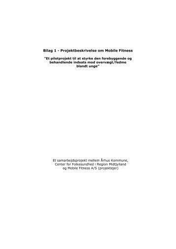 Projektbeskrivelse om Mobile Fitness - CFK Folkesundhed og ...