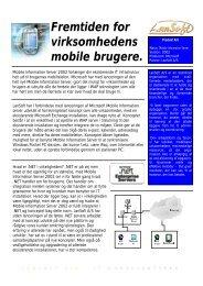Fremtiden for virksomhedens mobile brugere. - LanSoft A/S