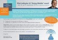 """Eltel indbyder til """"Going Mobile"""" event - Eltel Networks"""