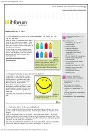 Nyt fra it-forum midtjylland nr. 5 2011