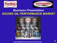 SynMax Race Market Program - SynMax Performance Lubricants