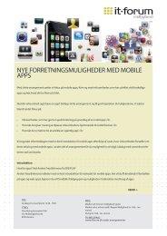nye forretningsmuligheder med mobile apps - it-forum midtjylland