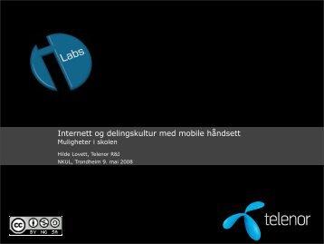 Internett og delingskultur med mobile håndsett - NKUL