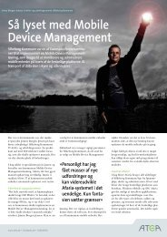 Så lyset med Mobile Device Management - Atea