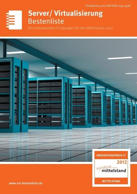 Bestenliste Server/ Virtualisierung - IT-Bestenliste