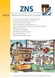 ZNS Ausgabe 7-8/2012 ist online - Zahnärztlicher Bezirksverband ...