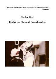 Reader zur Film- und Fernsehanalyse - Mediaculture online
