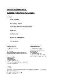 presseinformationen - Success for Future Award 2012