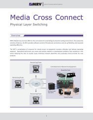 Media Cross Connect™ — PDF - MRV Communications