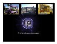 An alternative media company - Leading Mobile Billboards