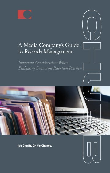 MEDIA-retention loss booklet - Chubb Group of Insurance Companies