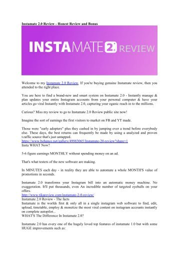 Instamate 2.0 Review - Is 2017 Version Worth It
