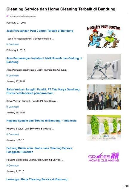 Gaji Cleaning Service Pt. Carefastindo - Loker Kerja Medan ...