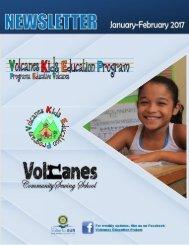 Volcanes Kids Newsletter Jan-Feb 2017