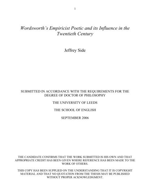 York Notes on Selected Poems of William Wordsworth,P Parry