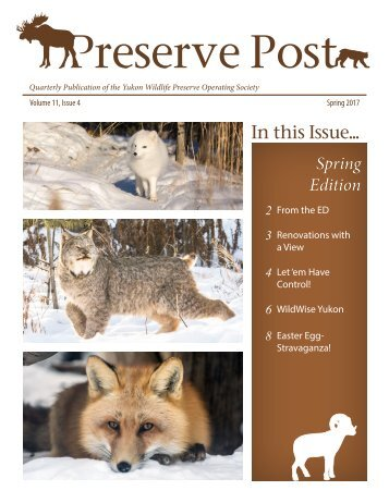 Preserve Post 2017 Spring Newsletter