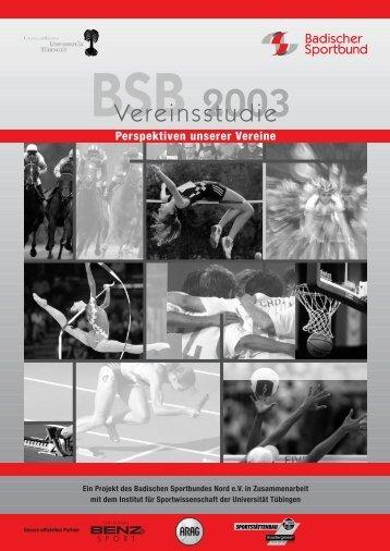 BSB Vereinsstudie 2003 - Badischer Sportbund Nord eV