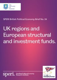 UK regions and European structural and investment funds