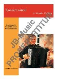 Konzert a-moll (A. Vivaldi / Joh. Seb. Bach) Arr.: Prof. Viktor Romanko