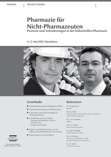 Pharmazie für Nicht-Pharmazeuten Prozesse und Anforderungen in ...
