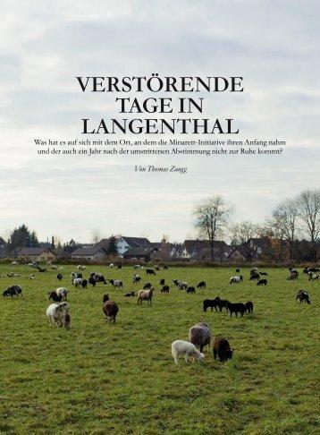 verstörende tage in LangenthaL - kath.ch