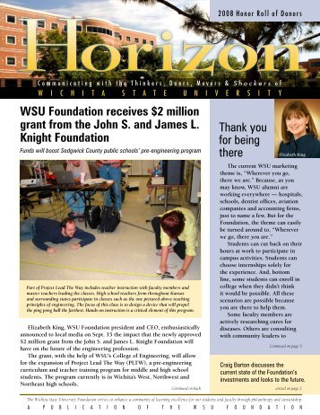 Thank you for being there WSU Foundation receives $2 million grant ...