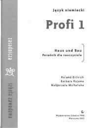 Profi 1. Haus und Bau. Poradnik dla nauczyciela - Wydawnictwo ...