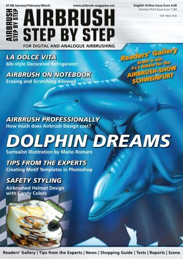 DOLPHIN DREAMS - Airbrush Step by Step Magazine, How To ...