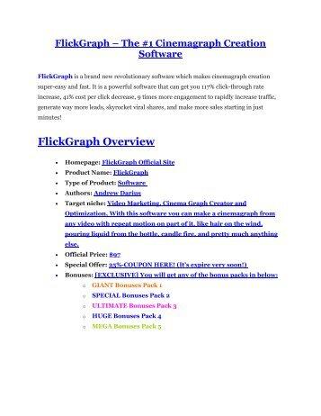 FlickGraph review in detail – FlickGraph Massive bonus