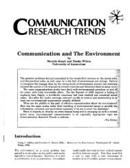 Volume 13, #1 - Centre for the Study of Communication and Culture