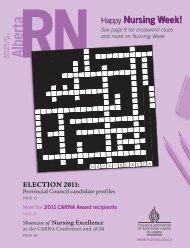 May/June (pdf) - College & Association of Registered Nurses of ...