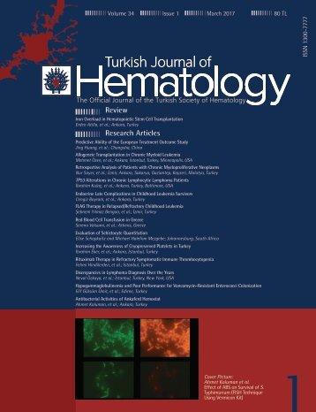 Turkish Journal of Hematology Volume: 34 - Issue: 1