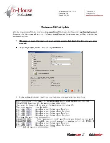 installation migration and updates from mastercam x5 to rh yumpu com