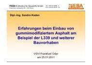 Erfahrungen beim Einbau von gummimodifiziertem Asphalt am - VSVI