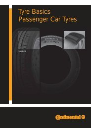 Tyre Basics Passenger Car Tyres - Continental Tyre Group AG